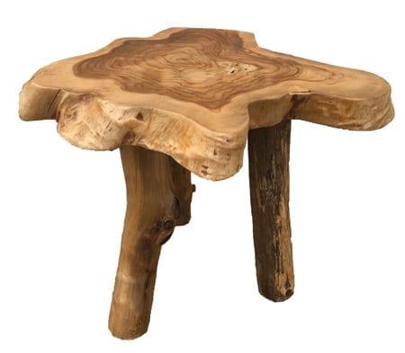 Handmade wood side table