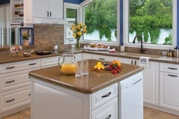 Beautiful kitchen with white refaced cabinets