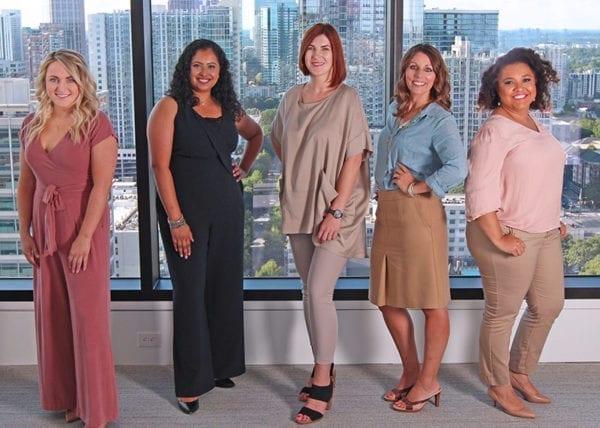 Five beautiful beautiful young women