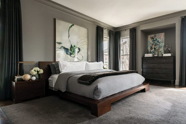 Masculine master bedroom design