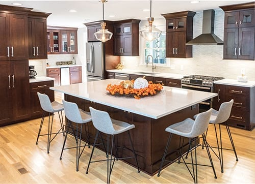 Elegant kitchen design with Cambria countertops