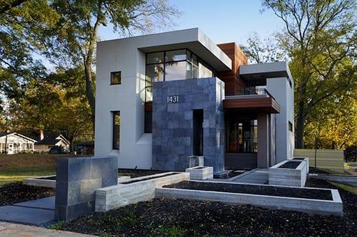 Exterior of modern design house