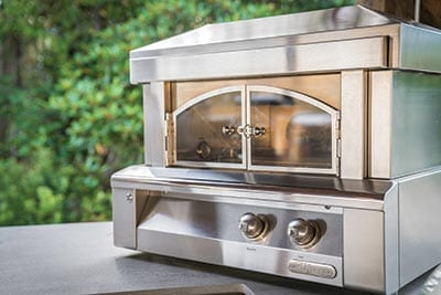 Stainless steel Alfresco Pizza Oven