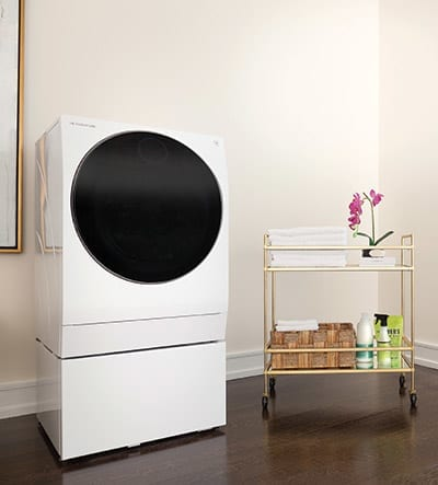White LG SIGNATURE Combination Washer and Dryer