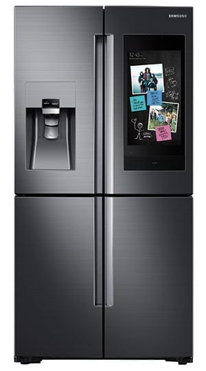 Refrigerator with buildin cameras and touch screen