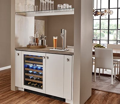 True Residential Wine Cabinet and Beverage Dispenser