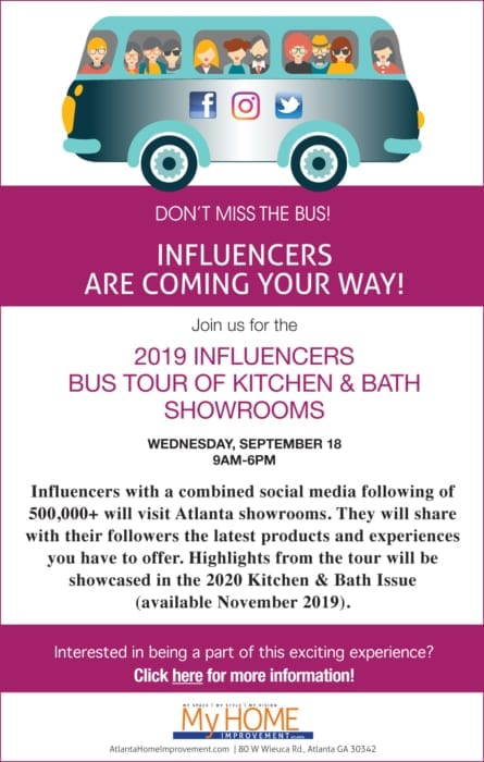 Influencers Bus Tour of Kitchen and Bath Showrooms