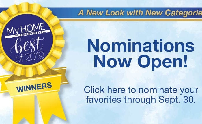 My Home Improvement Best of 2019 Contest Nominations