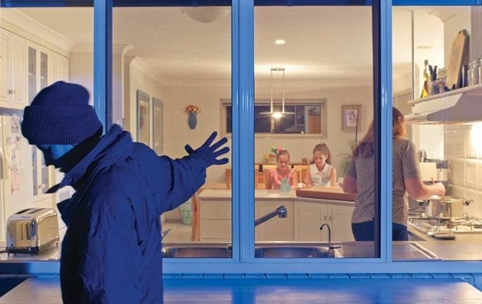 Stainless steel security screens keeps a burglar from entering a house