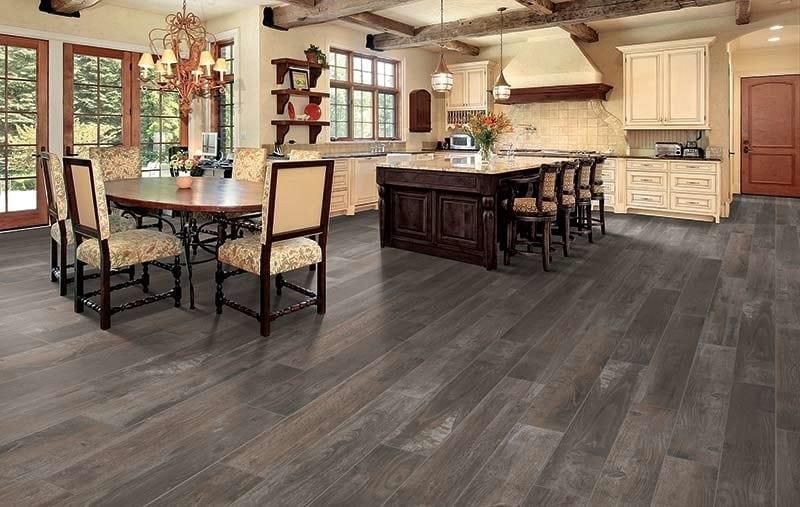 Kitchen with beautiful luxury vinyl flooring