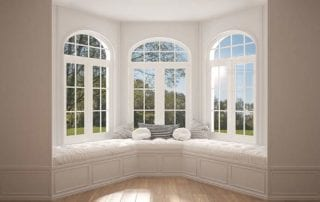 Bay window with seating and beautiful view