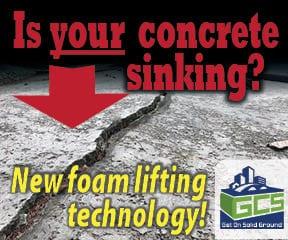 Driveway concrete cracked