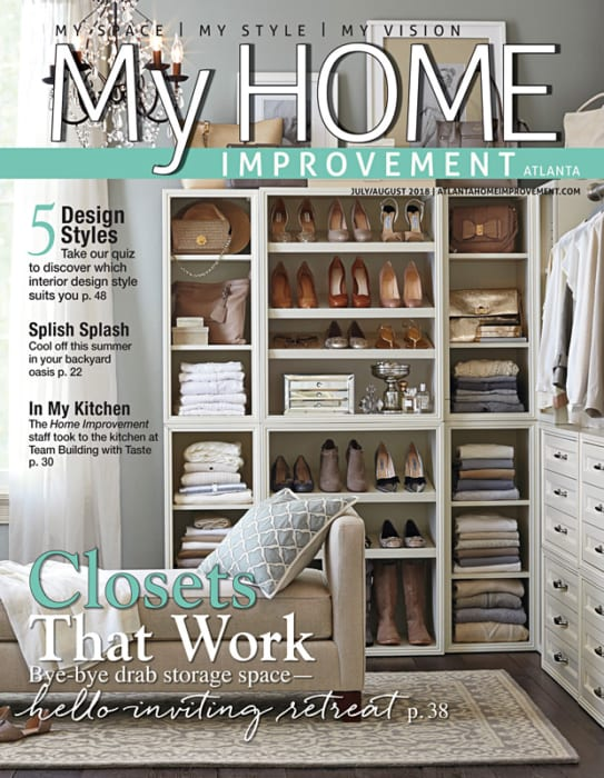 My Home Improvement Cover showing closet organization