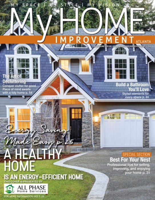 My Home Improvement magazine cover showing energy efficient home