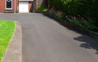 Repaired driveway