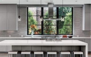 Contemporary kitchen design with Marvin Modern Windows